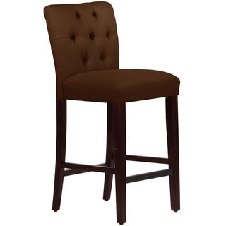 Skyline Furniture Linen Chocolate Tufted Mor Bar Stool