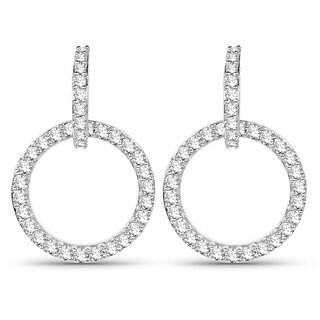 Olivia Leone 14k White Gold 3/4ct TDW Diamond Earrings (G-H, SI1-SI2)
