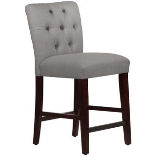 Skyline Furniture Linen Grey Tufted Mor Counter Stool