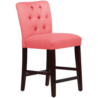 Skyline Furniture Linen Coral Tufted Mor Counter Stool