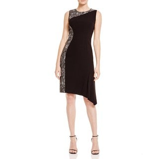 Elie Tahari Wynn Black Asymmetrical Dress