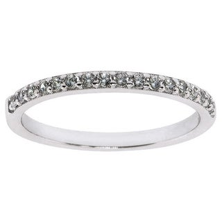 Eternally Haute Women's Solid Sterling Silver Cubic Zirconia Stackable Pave Anniversary Band