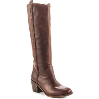 Lucky Brand Women's Looloo Brown Leather Knee-high Boots