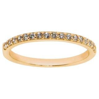 Eternally Haute 14k Goldplated Solid Sterling Silver and Pave Cubic Zirconia Stackable Anniversary Band