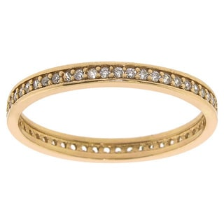 Eternally Haute 14k Goldplated Sterling Silver Stackable Eternity Band
