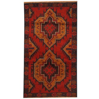 Herat Oriental Afghan Hand-knotted Tribal Balouchi Wool Rug (2'8 x 4'8)
