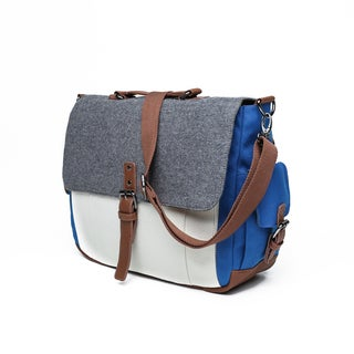 Something Strong Cancas and Wool Laptop/Tablet Messenger Bag