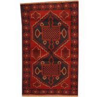 Herat Oriental Afghan Hand-knotted Tribal Balouchi Wool Rug (2'8 x 4'4) - 2'8 x 4'4