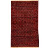 Herat Oriental Afghan Hand-knotted Tribal Balouchi Wool Rug (2'1 x 4'7) - 2'1 x 4'7