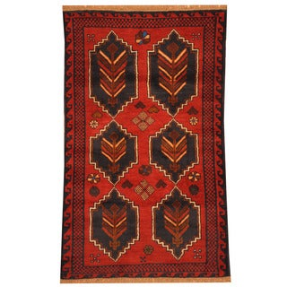 Herat Oriental Afghan Hand-knotted Tribal Balouchi Wool Rug (3' x 4'7)