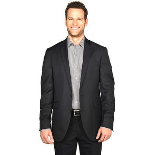 Kenneth Cole Reaction Black/Charcoal Polyester/Rayon Sportcoat