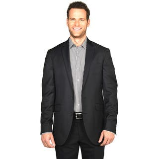 Kenneth Cole Reaction Black/Charcoal Polyester/Rayon Sportcoat|https://ak1.ostkcdn.com/images/products/12727727/P19507326.jpg?impolicy=medium