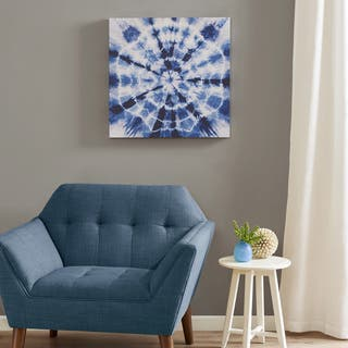 Urban Habitat Going Batik Blue Gel Coat Canvas with MDF Board|https://ak1.ostkcdn.com/images/products/12727790/P19507334.jpg?impolicy=medium