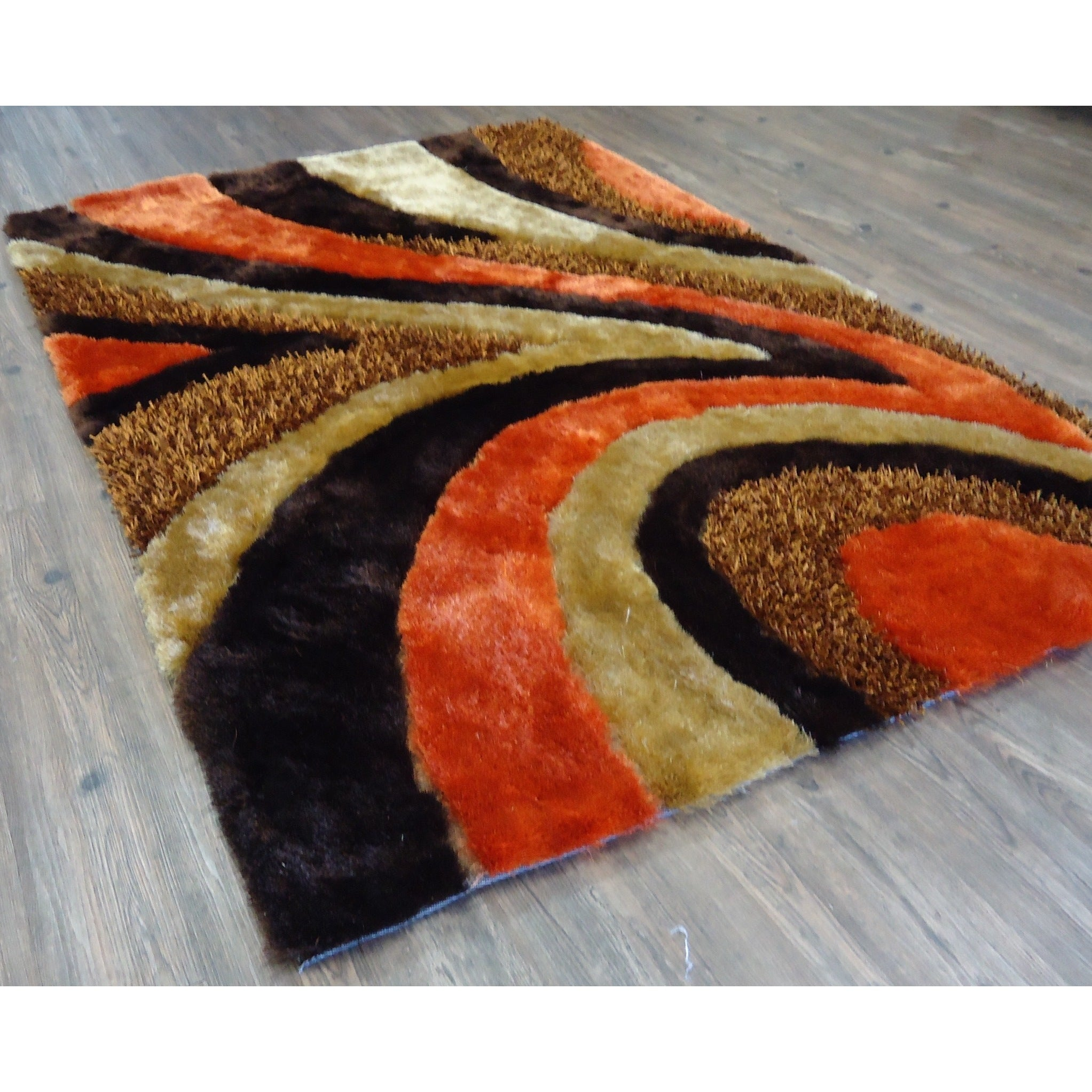 Orange Brown Area Rug Rugs Ideas