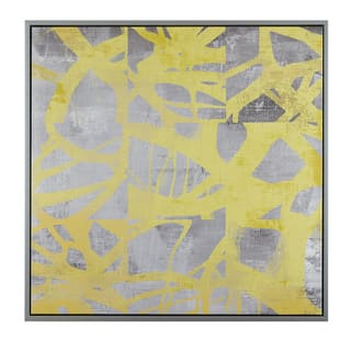 Urban Habitat Network Web Yellow Printed Canvas With Frame|https://ak1.ostkcdn.com/images/products/12727795/P19507336.jpg?impolicy=medium