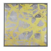 Urban Habitat Network Web Yellow Printed Canvas With Frame