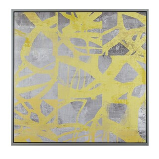 Urban Habitat Network Web Yellow Printed Canvas With Frame