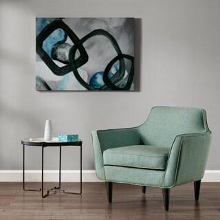 Madison Park Sphere Society Blue Glass Coat Canvas