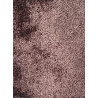 Vibrant Shaggy Rug Runner Featuring a Cozy Color of Brown (2'x7'5)