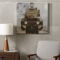 INK+IVY History of Locomotion Black/ White Silver Metallic Canvas