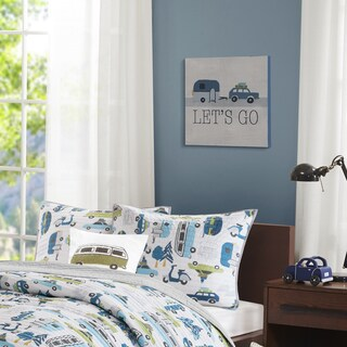 INK+IVY Kids Let's Go Blue MDF Box Wall Art