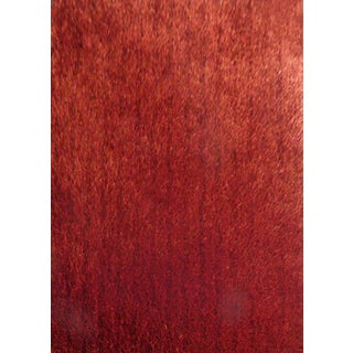 Soft Shaggy Rug Runner Featuring Vibrant Color Way of Red Brown Orange (2'x7'5)