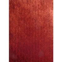 """Soft Shaggy Rug Runner Featuring Vibrant Color Way of Red Brown Orange - 2' x 7'5"""""""