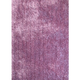 Plush Shaggy Rug Runner with Extravagant Color of Lavender (2'x7'5)