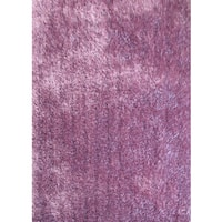 Plush Shaggy Rug Runner with Extravagant Color of Lavender - 2' x 7'5""