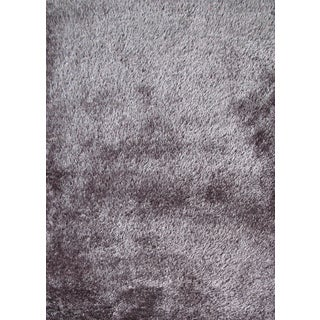 Soft as Silk Shaggy Rug Runner Brimming with a Neutral Shade of Gray (2'x7'5)