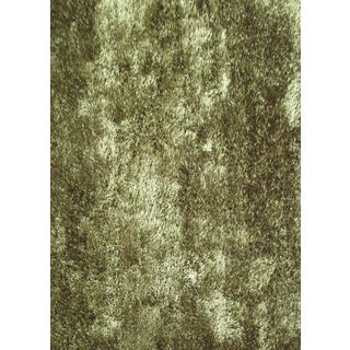 Plush Shaggy Area Rug Featuring a Neutral Shade of Hunter Green (8'x10')