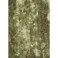 Plush Shaggy Area Rug Featuring a Neutral Shade of Hunter Green - 8' x 10'