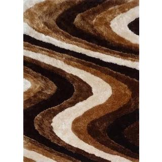 Plush Soft Shaggy Rug Runner Brimming with Cozy Shades of Brown Beige (2'x7'5)
