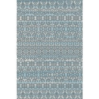 """Overdyed Abstract Area Rug Featuring Vibrant Shades of Turquoise Black and Silver (2'7"""" x 5')"""