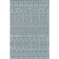 """Overdyed Abstract Area Rug Featuring Vibrant Shades of Turquoise Black and Silver - 2'7"""" x 5'"""