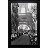 Clay Davidson-Street View Of La Tour Eiffel 22 x 28 Framed Art Print