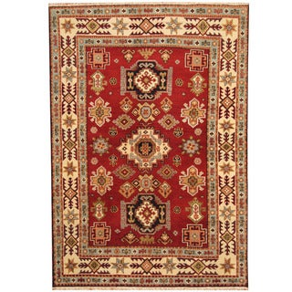 Herat Oriental Indo Hand-knotted Tribal Kazak Wool Rug (5'6 x 7'10)
