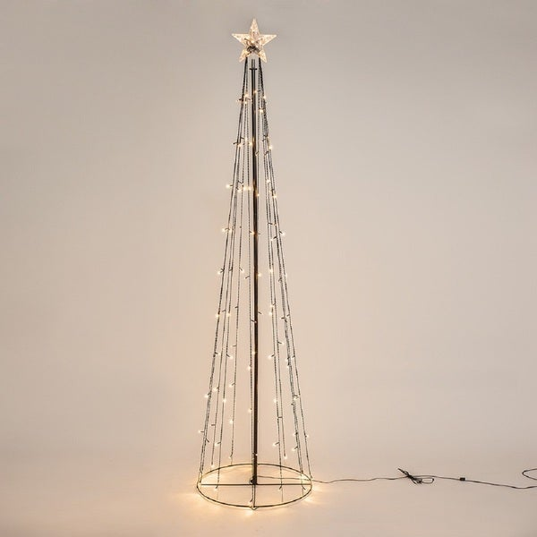 Shop Patch Magic 8 Ft Lighted Led String Light Cone Tree