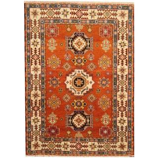 Herat Oriental Indo Hand-knotted Tribal Kazak Wool Rug (5'8 x 7'10)