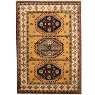 Herat Oriental Indo Hand-knotted Tribal Kazak Wool Rug (5'9 x 8'1)