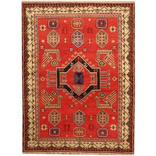 Herat Oriental Indo Hand-knotted Tribal Kazak Wool Rug (5'10 x 7'8)