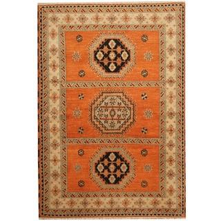 Herat Oriental Indo Hand-knotted Tribal Kazak Wool Rug (5'8 x 8'2)