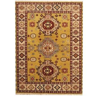 Herat Oriental Indo Hand-knotted Tribal Kazak Wool Rug (5'9 x 7'10)