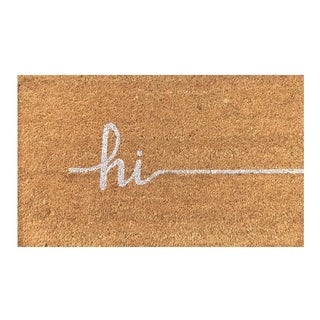 Hi Vinyl Backed Coir Door Mat (18 x 30)