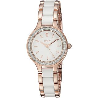 DKNY Women's NY2496 'Chambers' Crystal Two-Tone Stainless steel and Ceramic Watch