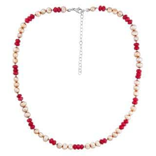 Sterling Silver Red Agate and Pearl Necklace|https://ak1.ostkcdn.com/images/products/12728043/P19507969.jpg?impolicy=medium