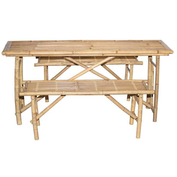 Terrific 3 Piece Folding Picnic Table And Bench Set Vietnam Onthecornerstone Fun Painted Chair Ideas Images Onthecornerstoneorg