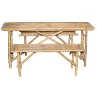 3 Piece Folding Picnic Table and Bench Set (Vietnam)