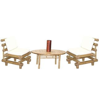 4-Piece Payang Chairs and Round Table Set (Vietnam)