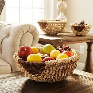 Harvest Natural Wicker Round Bowls (Pack of 3)